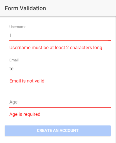 Form validation with Angular and Spring Boot