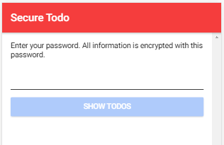Secure Todo app with Ionic 4